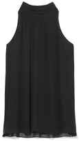 Vince Camuto Shirred-neck Tank