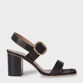 Paul Smith Women's Black Nubuck 'Roz' Heeled Sandals
