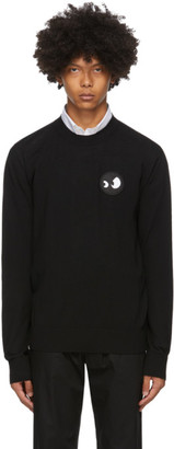 McQ Black Swallow Monster Badge Crewneck Sweater