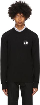 McQ Black Monster Badge Crewneck Sweater