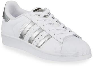 adidas Superstar Original Fashion Sneakers, White/Silver