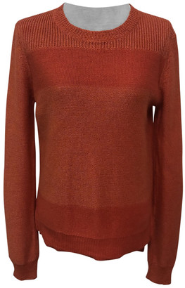 Theory Orange Silk Knitwear