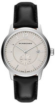 Burberry Ladies Stainless Steel Leather Strap Watch