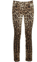 Dolce & Gabbana Leopard Printed Jeans