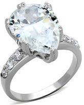 Michela Silvertone Crystal and Cubic Zirconia Stone Ring