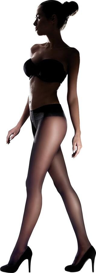 Marilyn Womens Exclusive Low Waistline Semi-matt Fingerless Tights Comfort Seams and Cotton Gusset 20 Denier