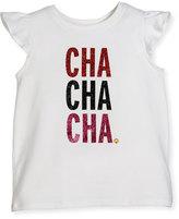 Kate Spade Cha Cha Cha Tee, White, Size 2-6
