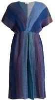 Masscob Olipa crinkled linen-blend dress