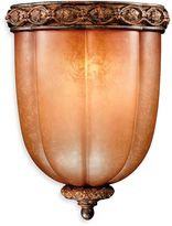 Minka Lavery Illuminati 11.75-Inch 1-Light Wall Sconce in Bronze with Patina Glass Shade