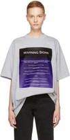 Raf Simons Grey warning Signs Big T-shirt