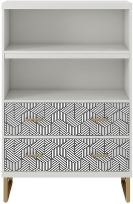 Cosmoliving Scarlett Bookcase With Drawers White