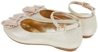 Monsoon Girls Giselle Glitter Bow Ballerina - Gold