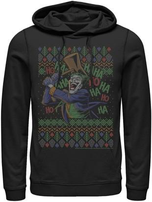 Dc Comics Mens Batman The Joker Laughing Vintage Knit Style Hoodie