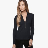 James Perse Half-Zip Mock Neck Top