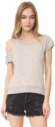 Pam & Gela Women's Cold Shoulder Sweatshirt