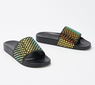 Katy Perry Slide Sandals - The Jimmi Iridescent