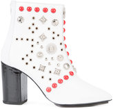 Toga Pulla studded ankle boots - women - Lamb Skin/Patent Leather/Metal (Other) - 37