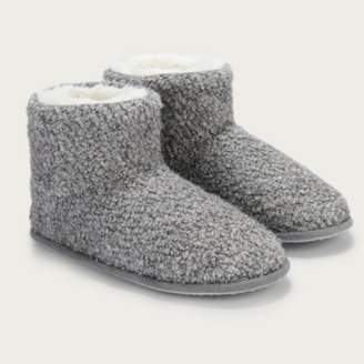 The White Company Boucle Slipper Boots , Pale Grey, 4