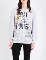Moschino Rat-A-Porter-print cotton-jersey sweatshirt