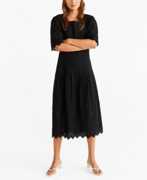 MANGO Openwork Cotton Dress