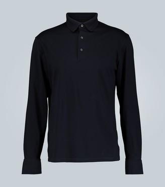 Ermenegildo Zegna Honeycomb cotton-jersey polo shirt