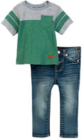 7 For All Mankind Tee & Jean 2-Piece Set (Baby Boys)