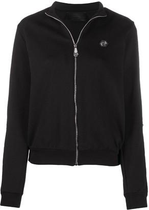 Philipp Plein Zip-Up Embellished Sweatjacket