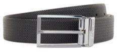 HUGO BOSS Reversible leather belt with pin and plaque buckles