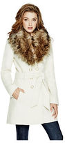 GUESS Women's Alina Double-Breasted Coat