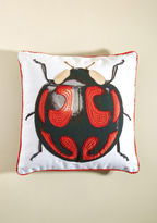 Karma Living Beetle 'Round the Bush Pillow in Black