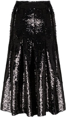Simone Rocha Sequin Midi Skirt