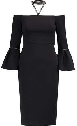 Alexis Amelie Off-The-Shoulder Stretch-Cady Dress