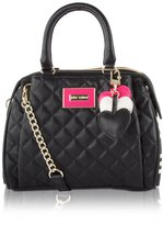 Betsey Johnson Triple Heart Swag Satchel Bag