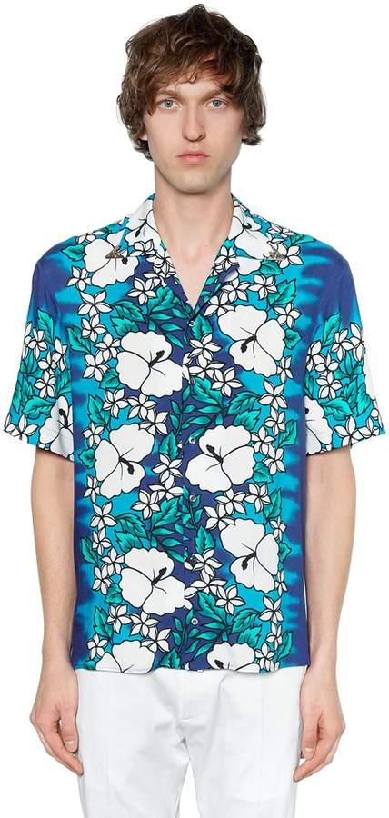 DSQUARED2 Hawaii Printed Viscose Bowling Shirt