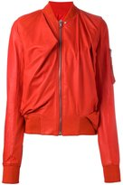 Rick Owens Swoop bomber jacket - women - Lamb Skin/Cupro - 46