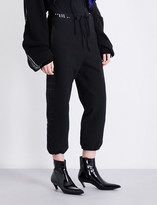 Unravel Baggy-fit stretch-jersey jogging bottoms