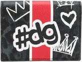 Dolce & Gabbana logo leopard print wallet