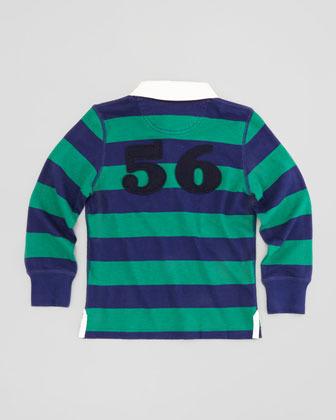 Burberry Boys' Rugby Polo Shirt, Green, 4Y-10Y