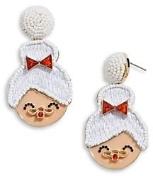 BaubleBar Mrs. Claus Drop Earrings in Gold Tone