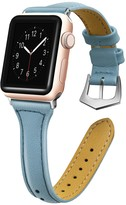 Light Blue Thin Leather 38mm Apple Watch 1/2/3/4 Band