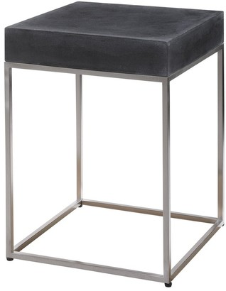 Uttermost Jase Black Resin Accent Table