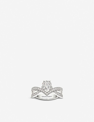 Chaumet Josephine Amour d'Aigrette Solitaire platinum and diamond ring