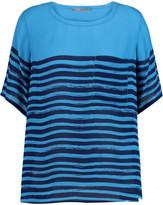 Vince Marker striped silk-chiffon top