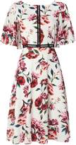 Ariella Short sleeved floral midi dress