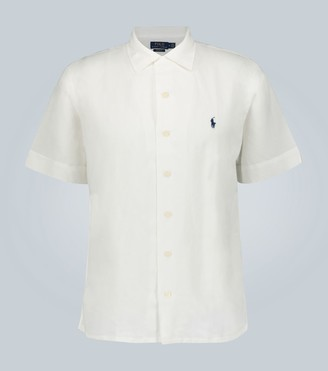 Polo Ralph Lauren Short-sleeved linen-blend shirt