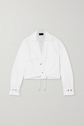 RtA Carlita Cropped Denim Jacket - White
