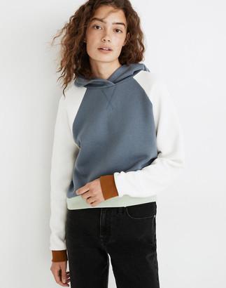 Madewell MWL Betterterry Hoodie Sweatshirt in Colorblock