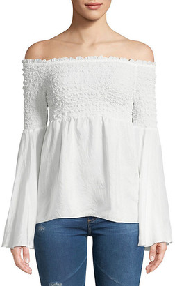 Bailey 44 Off-The-Shoulder Silk Blouse