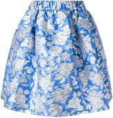 MSGM floral pleated skirt - women - Polyamide/Polyester/Metallic Fibre - 42