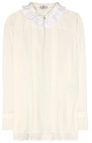 Fendi Pleated Silk Blouse